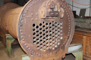 The boiler awaiting inspection